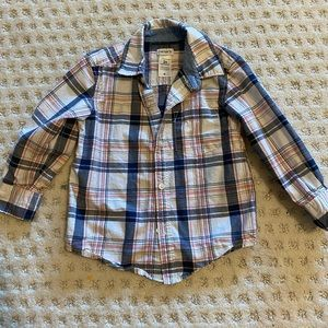 Carters button up flannel